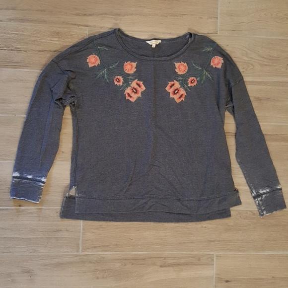 Lucky Brand Sweaters - Lucky Brand Large Oversized crew sweatshirt